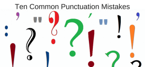 Image result for punctuation mistakes in writing