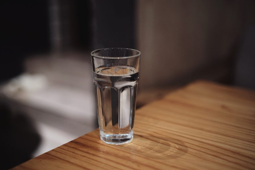 water filled cup